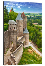 Quadro em alumínio  Fortress Carcassonne in France, Languedoc
