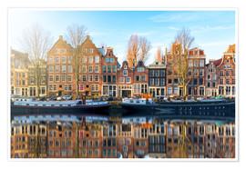 Póster Premium  Amsterdam morning reflections - George Pachantouris
