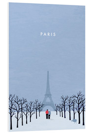 Quadro em PVC  Illustration of Paris - Katinka Reinke