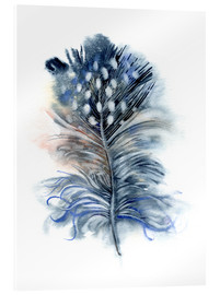 Quadro em acrílico  Feather blue - Verbrugge Watercolor