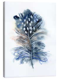 Quadro em tela  Feather blue - Verbrugge Watercolor