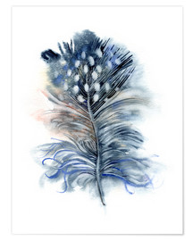 Póster Premium  Feather blue - Verbrugge Watercolor