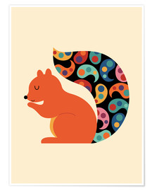 Póster Premium  Paisley Squirrel - Andy Westface