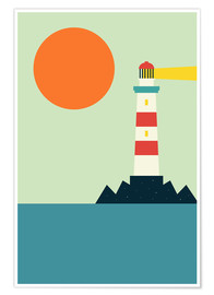 Póster Premium  Light House - Andy Westface