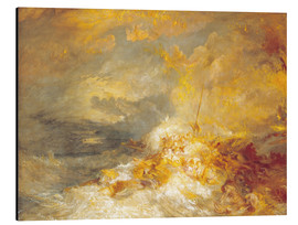 Quadro em alumínio  A Disaster at Sea - Joseph Mallord William Turner