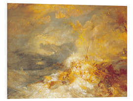 Quadro em PVC  A Disaster at Sea - Joseph Mallord William Turner