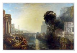 Póster Premium  dido building carthage - Joseph Mallord William Turner