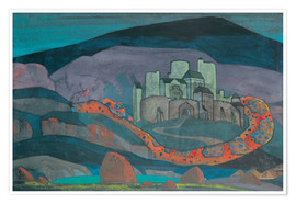 Póster Premium  The Doomed City - Nicholas Roerich