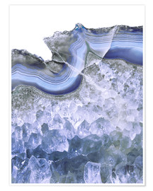 Póster Premium Agate in water blue