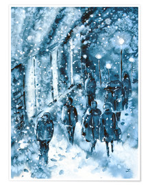 Póster Premium Winter in the City