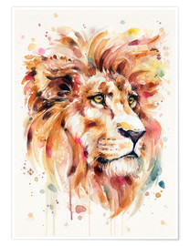 Póster Premium  All Things Majestic (Lion) - Sillier Than Sally