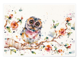 Póster Premium  Yep Cute Is My Middle Name (baby Owl) - Sillier Than Sally