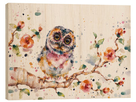 Quadro de madeira  Yep Cute Is My Middle Name (baby Owl) - Sillier Than Sally