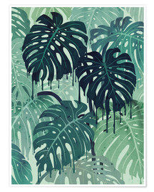 Póster Premium  Monstera Melt (in Green) - littleclyde