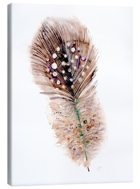 Quadro em tela  Feather brown - Verbrugge Watercolor
