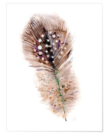 Póster Premium  Feather brown - Verbrugge Watercolor