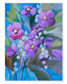 Póster Premium  Purple Bouquet - Ruth Palmer