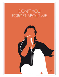 Póster Premium Simple Minds - Don't You Forget About Me