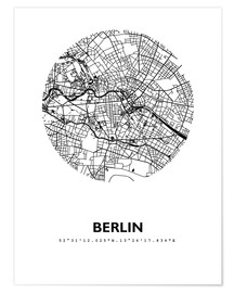 Póster Premium  City map of Berlin - 44spaces