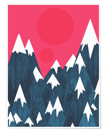 Póster Premium The pink morning sky