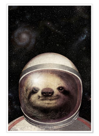 Póster Premium  Space Sloth - Eric Fan
