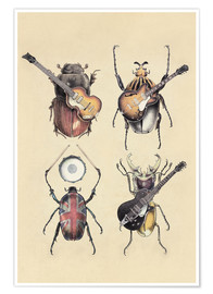 Póster Premium  Meet the Beetles - Eric Fan