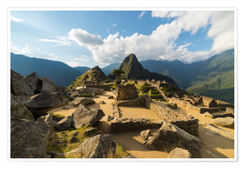 Póster Premium  Light and clouds over Machu Picchu, Peru - Fabio Lamanna