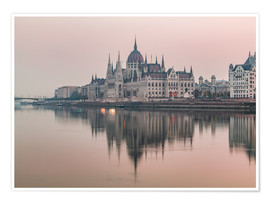 Póster Premium  Colourful sunrises in Budapest - Mike Clegg Photography