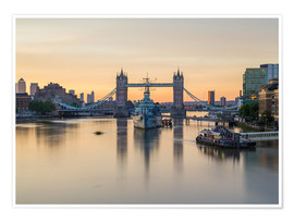 Póster Premium  Colourful sunrises in London - Mike Clegg Photography