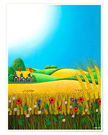 Póster Premium  Sussex Wheatfields - Larry Smart