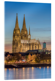 Quadro em acrílico  The Cologne Cathedral in the evening - Michael Valjak