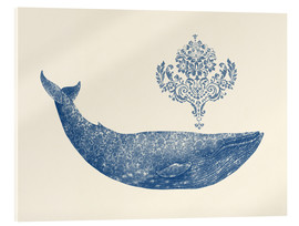 Quadro em acrílico  A whale from Damask - Terry Fan