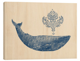 Quadro de madeira  A whale from Damask - Terry Fan