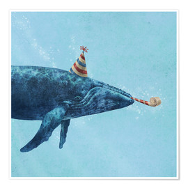 Póster Premium  party whale - Terry Fan