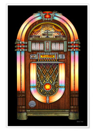 Póster Premium Vintage Jukebox