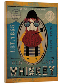 Quadro de madeira  Old Salt Whiskey - Ryan Fowler