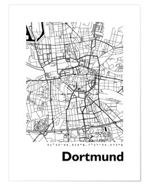 Póster Premium  City map of Dortmund - 44spaces