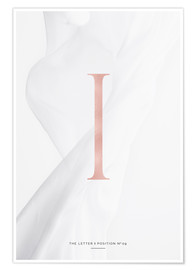 Póster Premium ROSEGOLD LETTER COLLECTION I