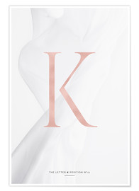 Póster Premium ROSEGOLD LETTER COLLECTION K