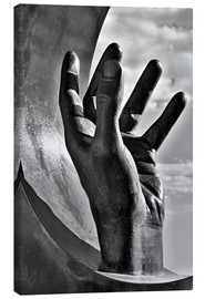 Quadro em tela  Gripping hand in black and white - Jörg Gamroth