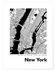 Póster Premium  City map of New York - 44spaces