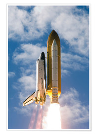 Póster Premium Space Shuttle Atlantis