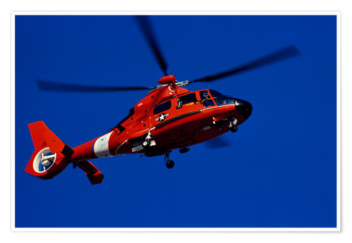 Póster Premium Coast Guard helicopter
