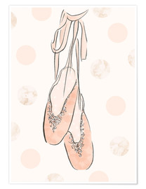 Póster Premium  Ballet shoes on the wall