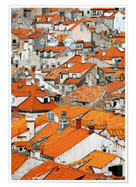 Póster Premium  The roofs of Dubrovnik - Axiom RF