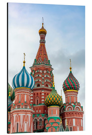 Quadro em alumínio  St. Basil's Cathedral at Red Square in Moscow - Click Alps