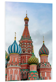Quadro em PVC  St. Basil's Cathedral at Red Square in Moscow - Click Alps