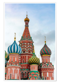 Póster Premium  St. Basil's Cathedral at Red Square in Moscow - Click Alps