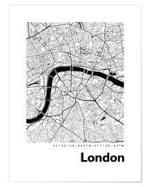 Póster Premium  City map of London - 44spaces