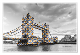 Póster Premium  Tower Bridge Colour Pop